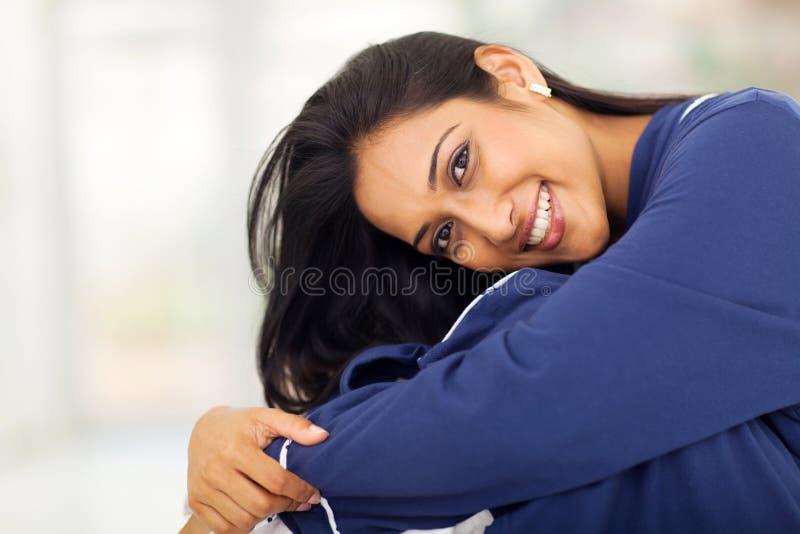 Recht indische Frau lizenzfreie stockbilder