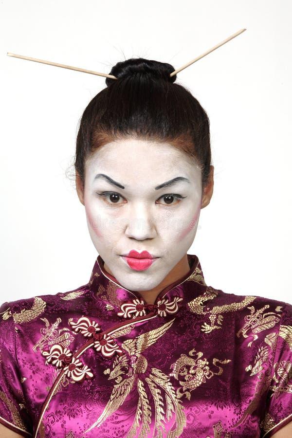 Recht japanische Geisha stockfotografie