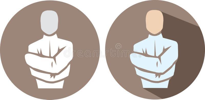 Recht Jasjepictogram stock illustratie