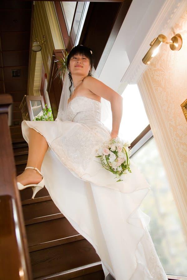 Recht junge Braut stockfotos