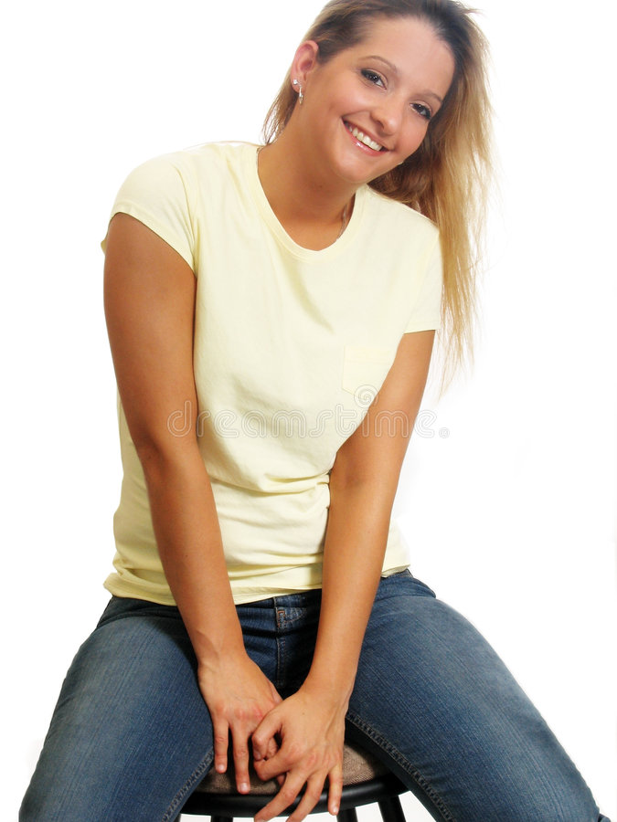 Recht junge Frau stockbilder