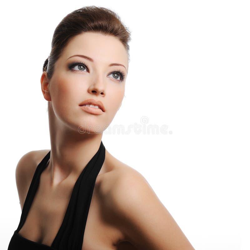 Recht kaukasische Frau stockfoto