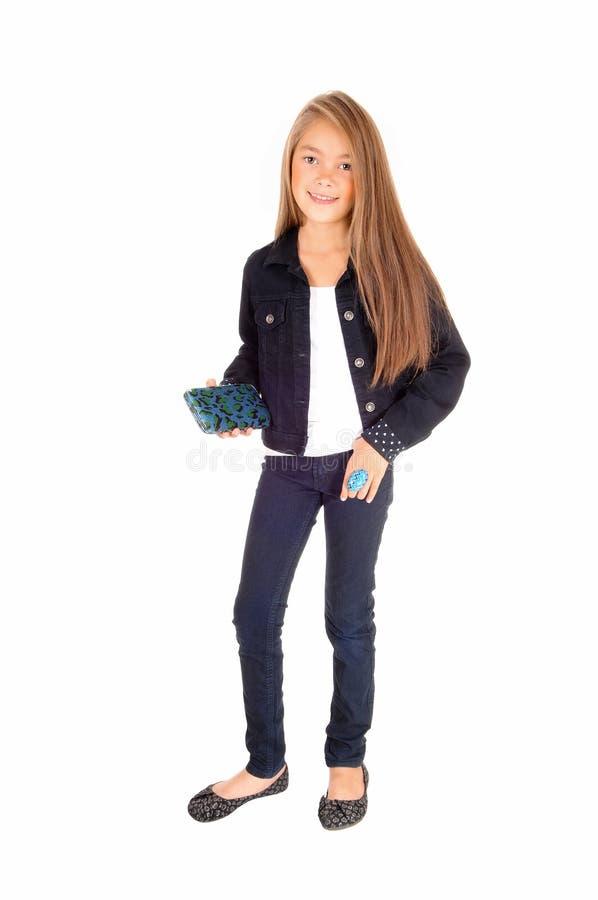 Recht kleines Mädchen lizenzfreies stockbild