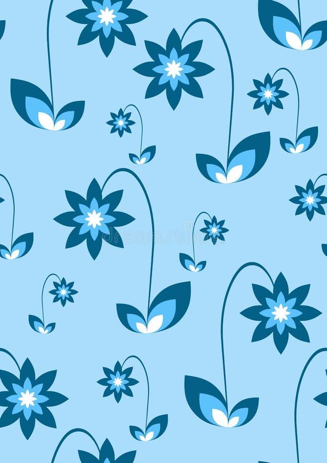 Recht nahtlose blaue Blumen lizenzfreie abbildung