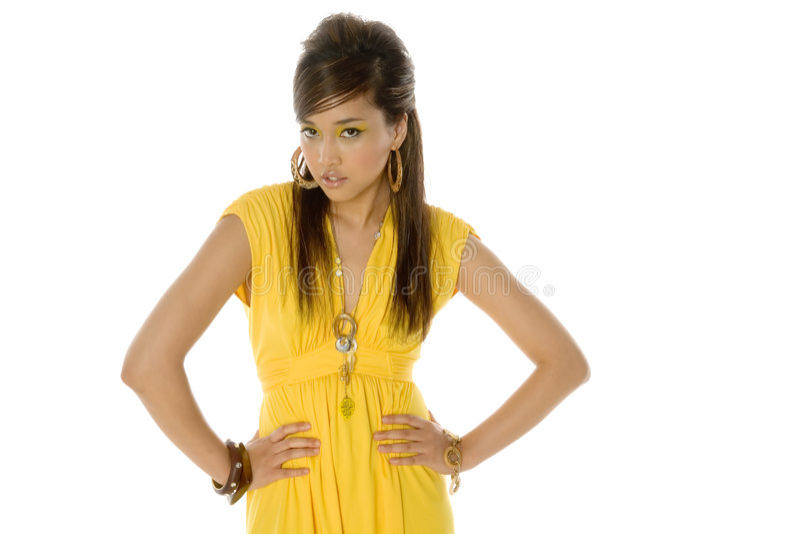 Recht reizvolle asiatische Frau stockbilder
