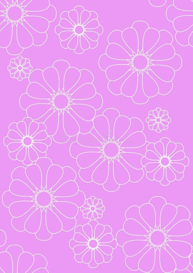 Recht rosafarbenes Blumengewebe vektor abbildung