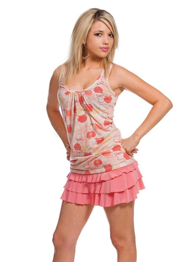 Recht rosafarbenes Ruffels stockfoto