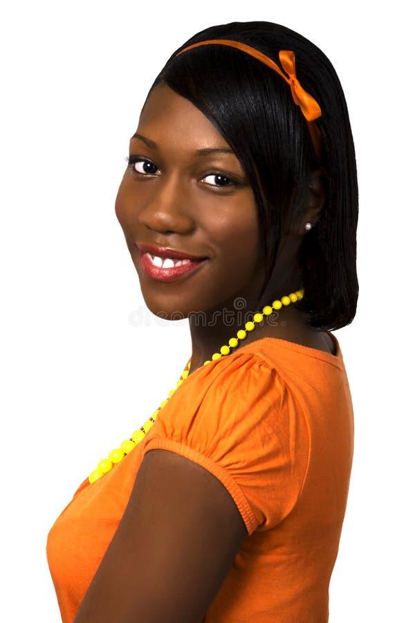 Recht schwarzes jugendlich Mädchen lizenzfreie stockbilder