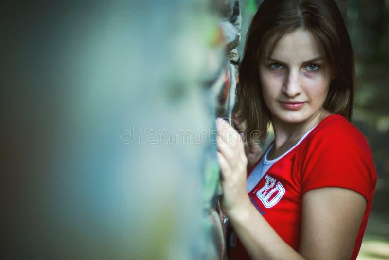 Recht teenaged Mädchen stockfotos