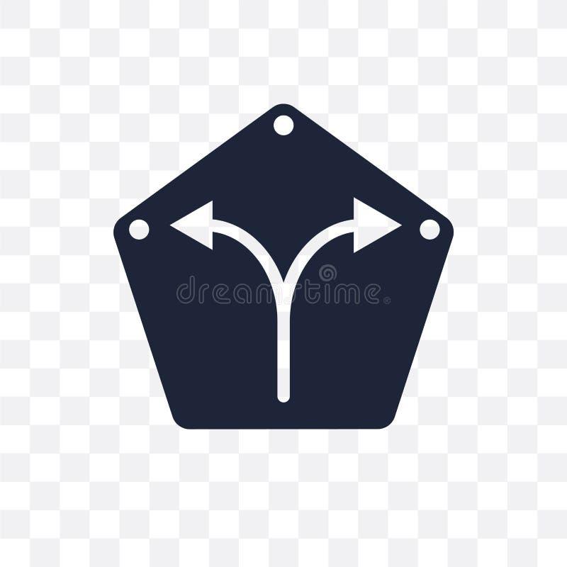 Recht transparant pictogram Recht symboolontwerp van Kaarten en stock illustratie