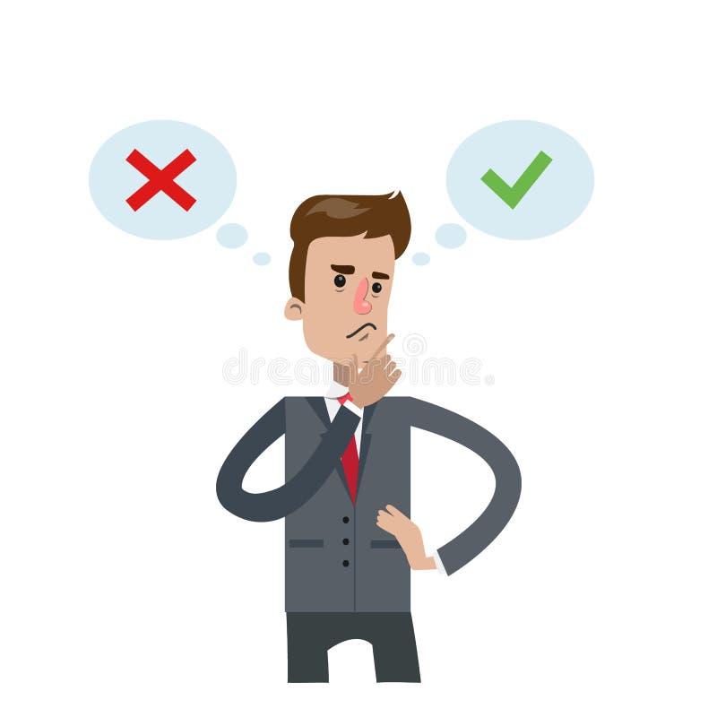 Recht of Verkeerd vector illustratie