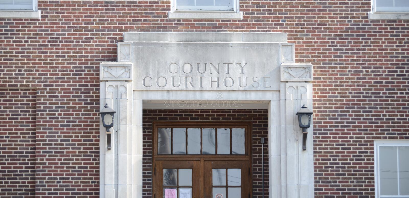 Rechtbank en Oordeel royalty-vrije stock afbeelding