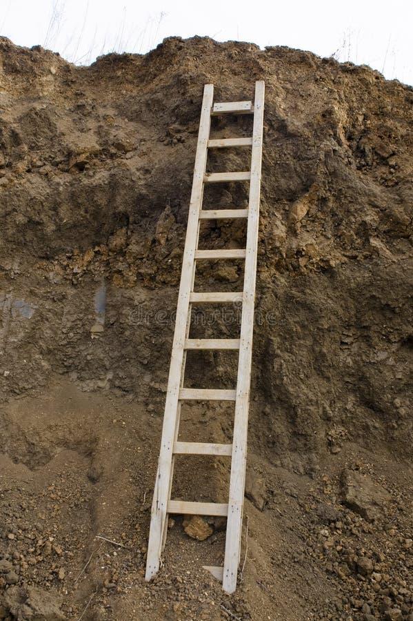 Rechte ladder royalty-vrije stock fotografie