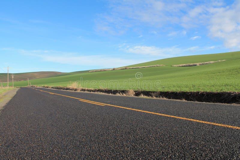 Rechte landweg royalty-vrije stock foto