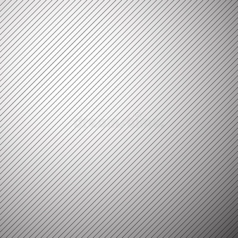 Rechte parallelle lijnen, strepen naadloze zwart-wit achtergrond vector illustratie