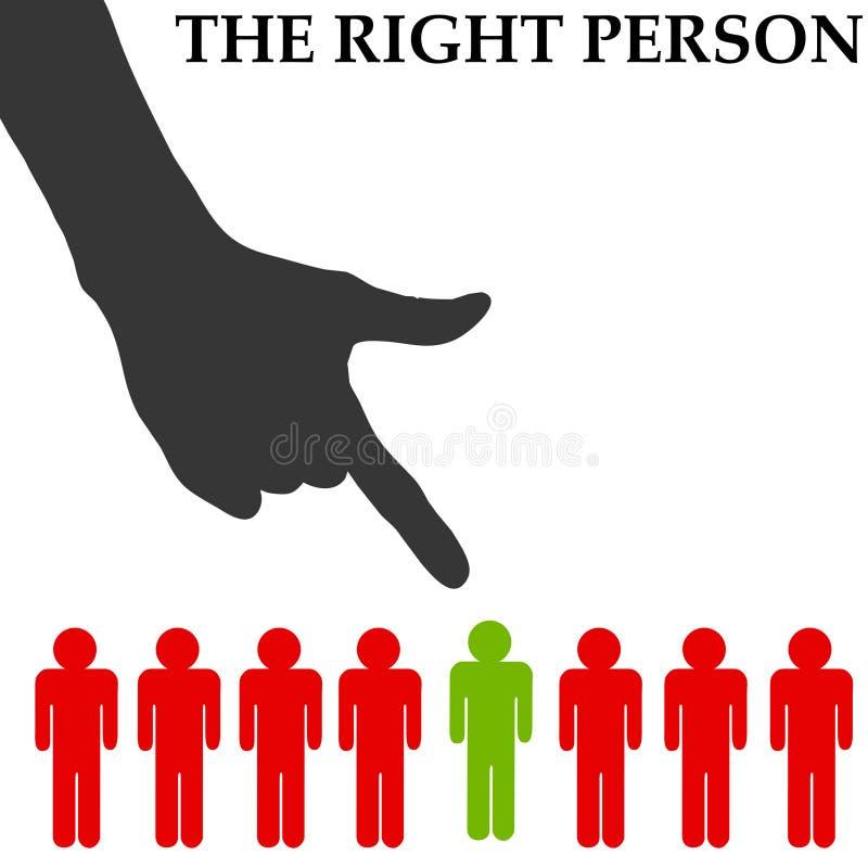 Rechte Person vektor abbildung