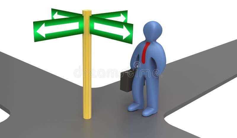 Rechte Richtung stock abbildung