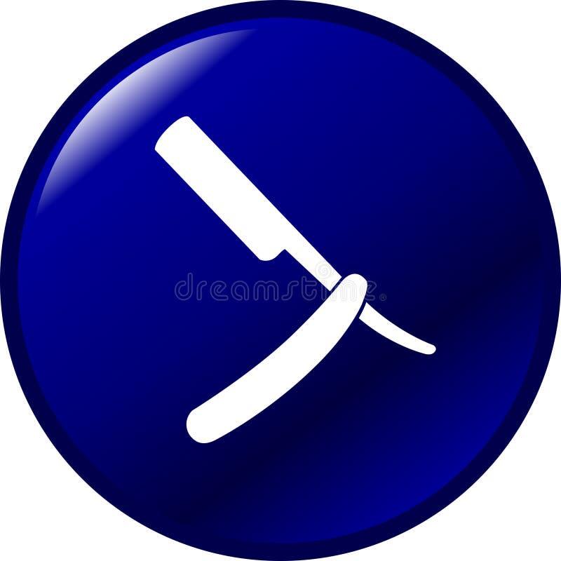 Rechte scheermesknoop vector illustratie