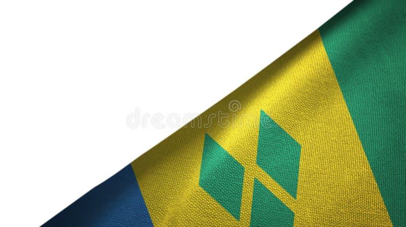 Rechte Seite St. Vincent und die Grenadinen Flagge mit leerem Kopienraum stock abbildung