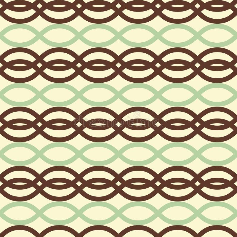Rechteck bewegt nahtloses Muster wellenartig vektor abbildung