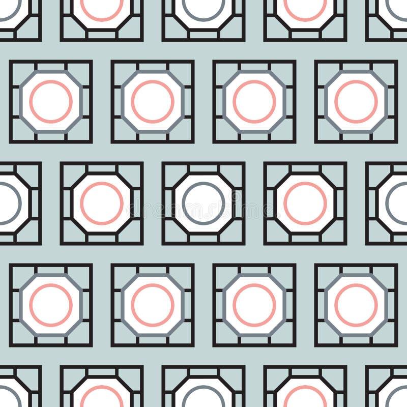 Rechteck deckt nahtloses Muster mit Ziegeln stock abbildung