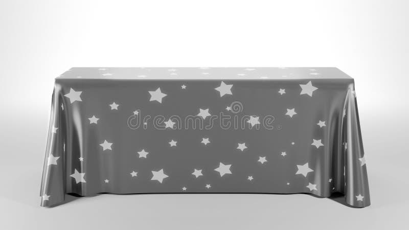 Rechteck-Tischdecke stock abbildung