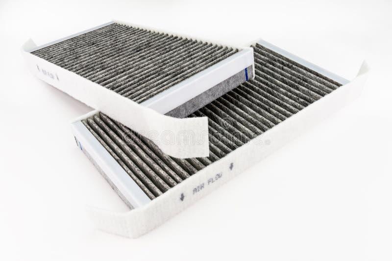 Rechteckig, Kohlenstoffautofilter, lokalisiert auf einem weißen Hintergrund mit einem Beschneidungspfad lizenzfreies stockbild