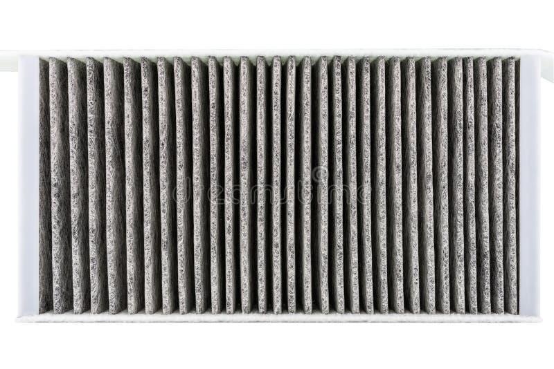 Rechteckig, Kohlenstoffkabinenfilter, auf weißem Hintergrund mit Beschneidungspfad, Draufsicht lizenzfreie stockfotos