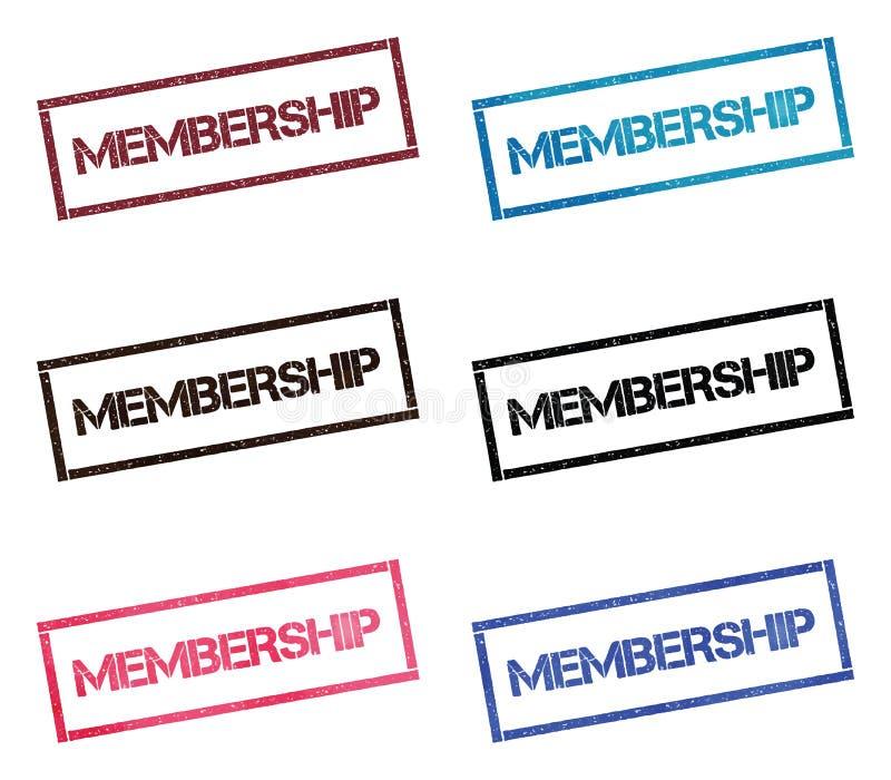 Rechteckige Briefmarkensammlung der Mitgliedschaft stock abbildung