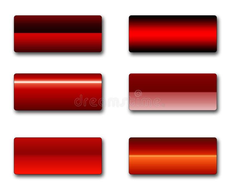 Rechteckige Web-Tasten stock abbildung