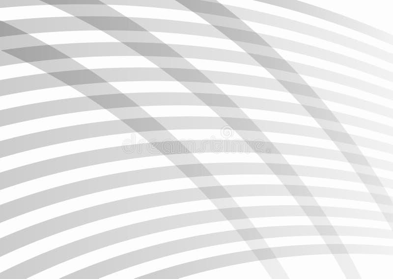 Rechteckiger grauer Hintergrund Einfache gestreifte Schablone für Entwurf lizenzfreie abbildung