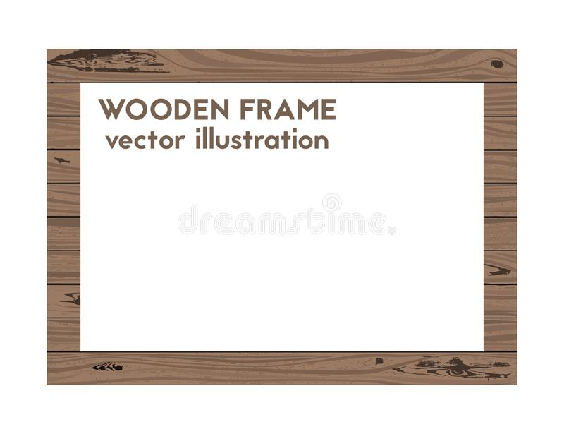 Rechteckiger Holzrahmen vektor abbildung