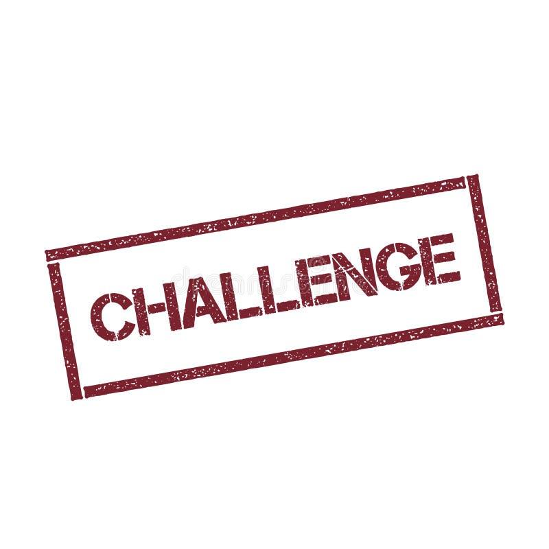 Rechteckiger Stempel der Herausforderung stock abbildung