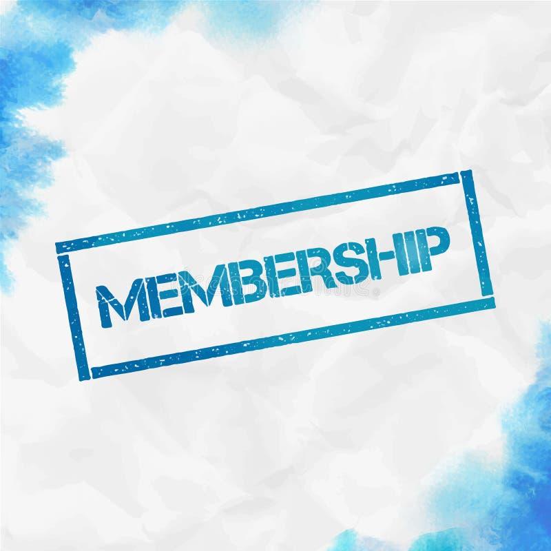 Rechteckiger Stempel der Mitgliedschaft stock abbildung
