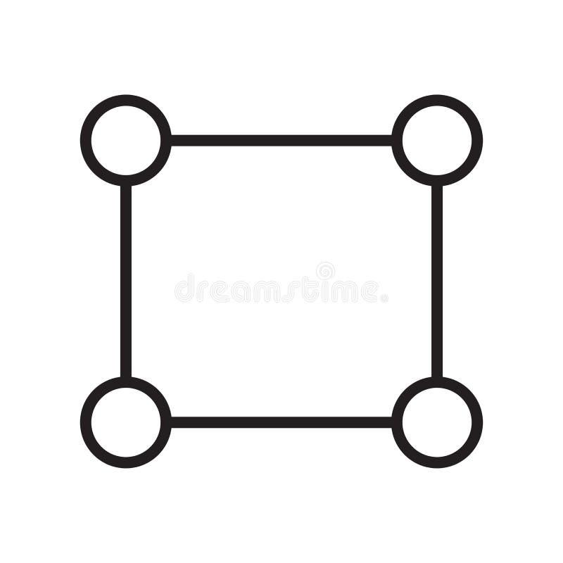 Rechteckikonenvektorzeichen und -symbol lokalisiert auf weißem backgrou stock abbildung