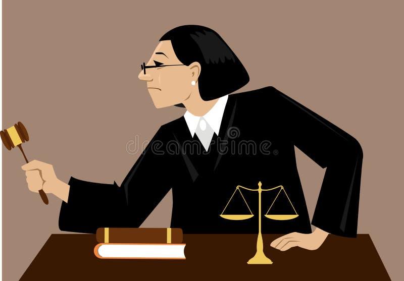 Rechter In Court vector illustratie