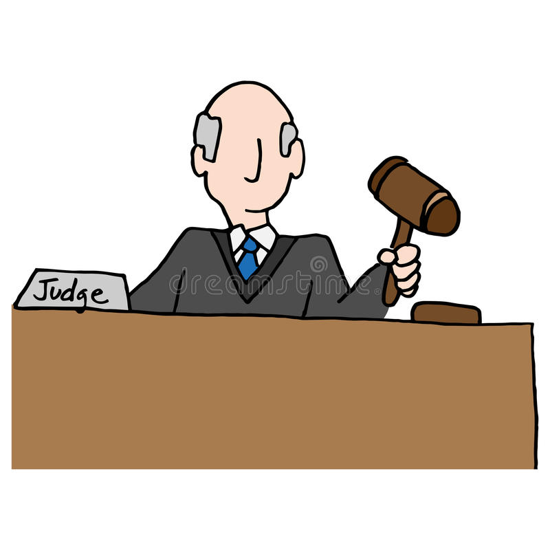 Rechter Holding Gavel vector illustratie