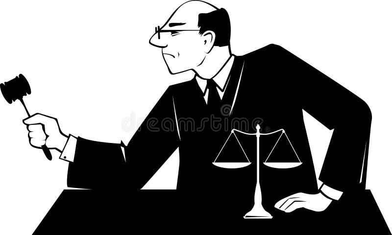 Rechters klem-kunst royalty-vrije illustratie