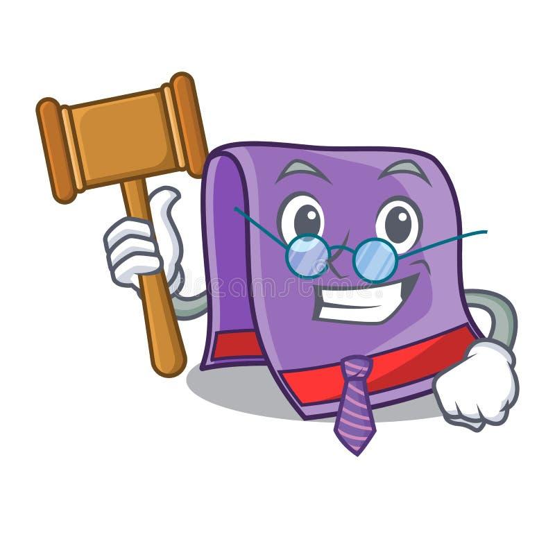 Rechtershanddoek voor badmascotte stock illustratie