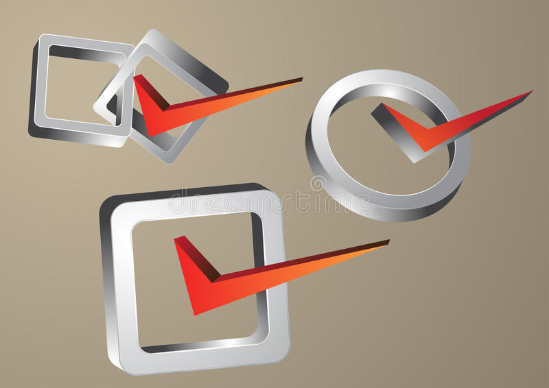 Rechtes Symbol stock abbildung