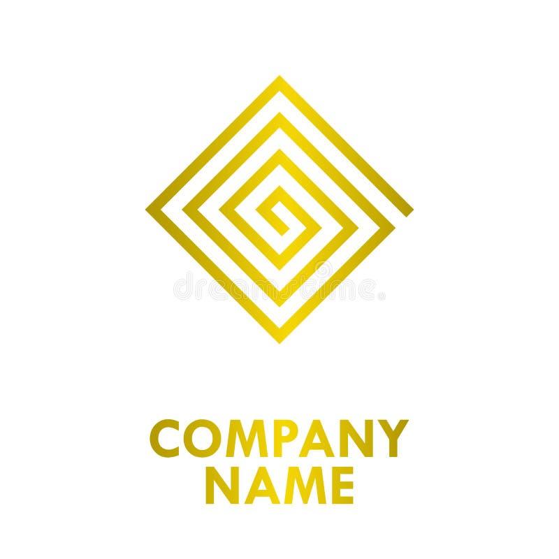 Download Rechthoek Gouden Logo Design Vector Illustratie - Illustratie bestaande uit concept, elegantie: 114227575
