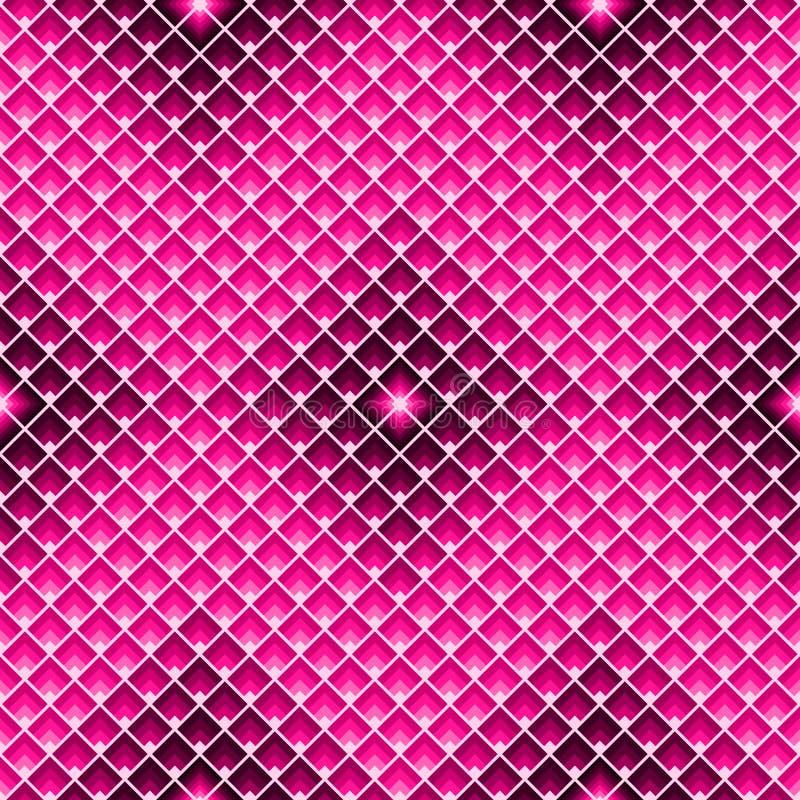 Rechthoeken naadloos patroon Geometrische tegeltextuur met roze ruiten stock illustratie