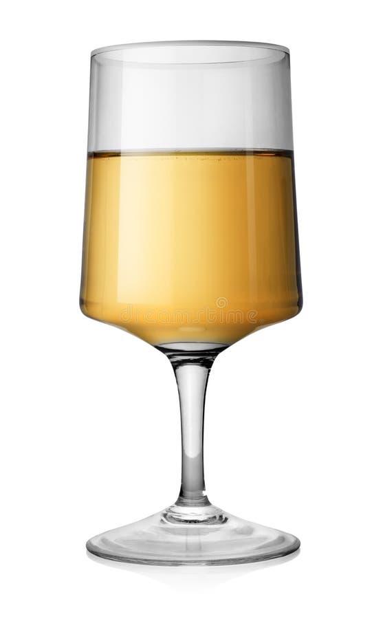 Rechthoekig glas witte wijn stock foto