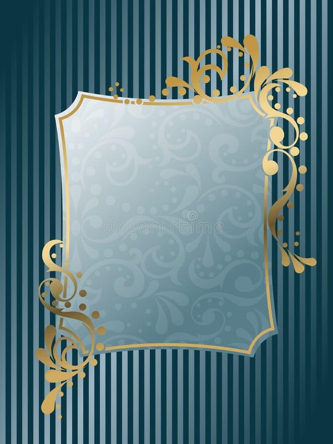 Rechthoekig uitstekend Victoriaans frame royalty-vrije illustratie
