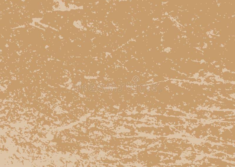 Rechthoekige grungetextuur Horizontale bruine abstracte achtergrond vector illustratie