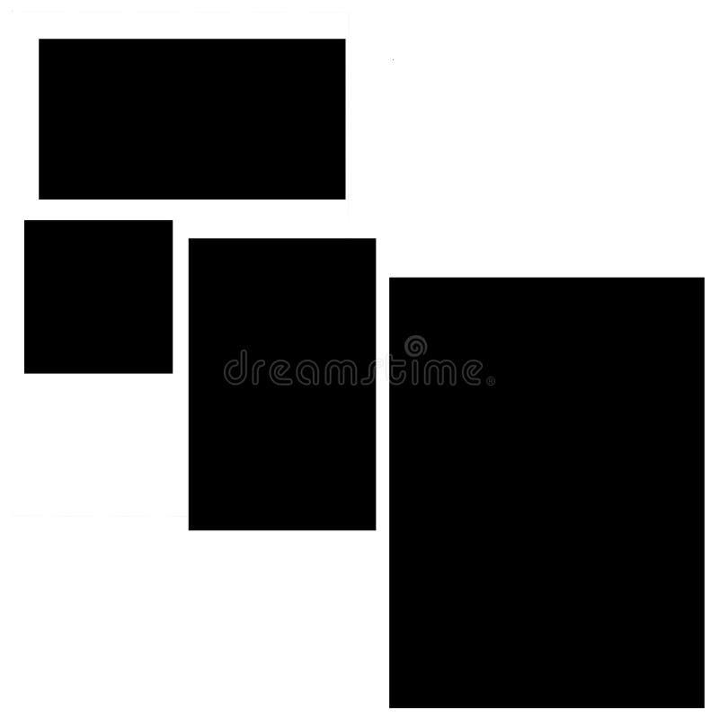 Rechthoekige kaders, lege kaders vector illustratie