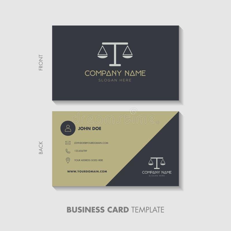 Rechtsanwalt-Business Card Template-Entwurf stock abbildung