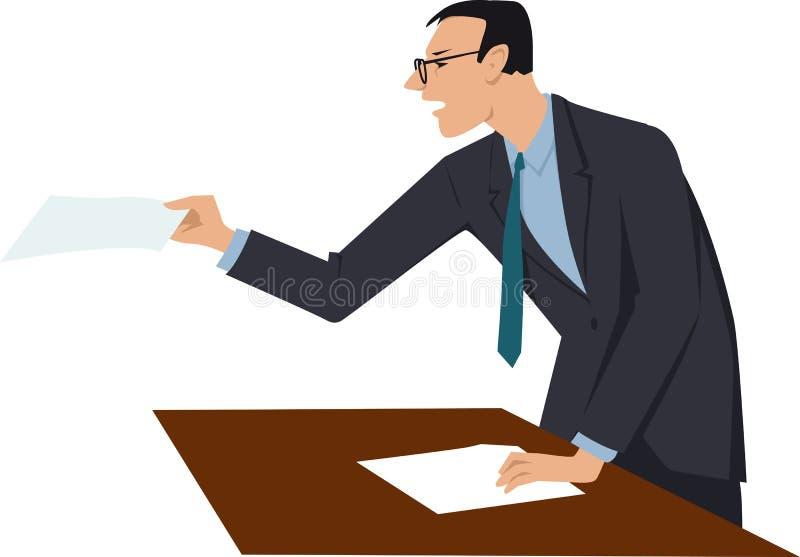 Rechtsanwalt am Gericht stock abbildung