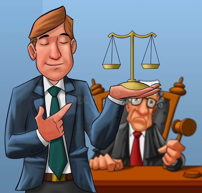 Rechtsanwalt und Richter stock abbildung