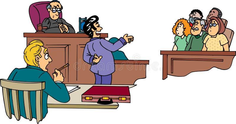 Rechtsanwalt vor Jury lizenzfreie abbildung